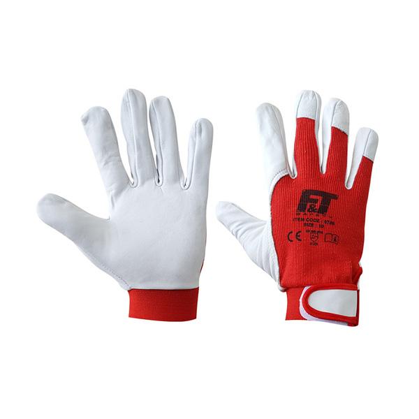 Δερμάτινα γάντια με Velcro 0786